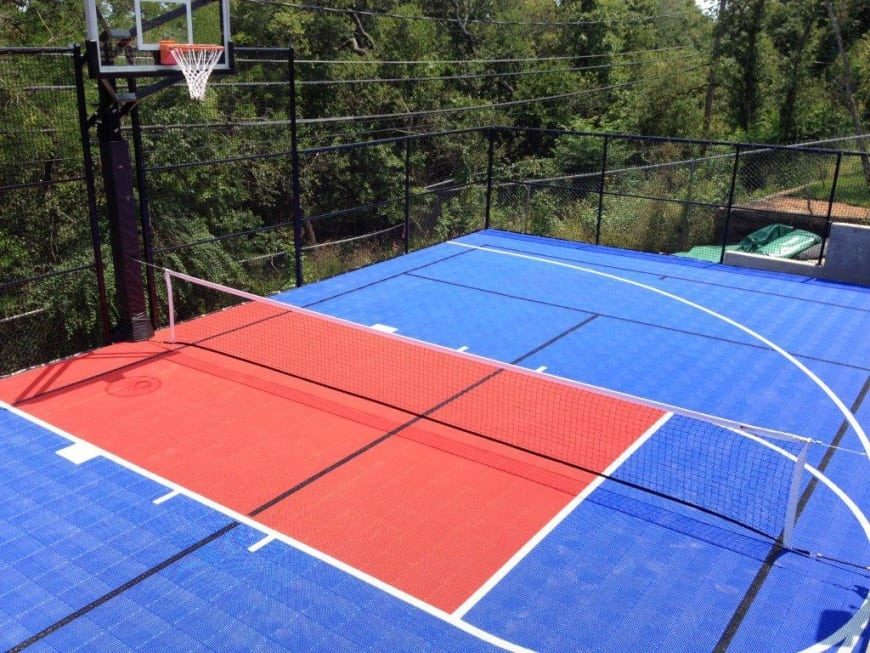 Outdoor basketball court flooring ultrabasesystems for How much do sport courts cost